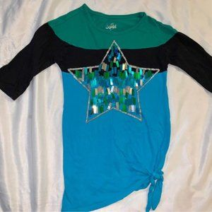 Justice girls shirt size 6 sparkly star